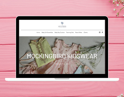 Website Design & Development for Mockingbird Kidswear