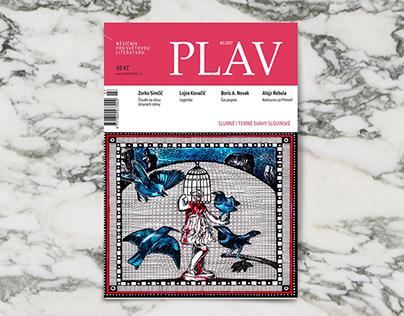 Illustrations for a literary magazine - PLAV @Svetovka