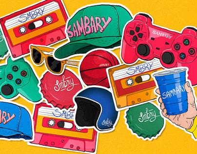 Stickers Sambary