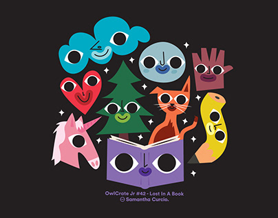 Owl Crate Jr. – Lost in a Book Sticker