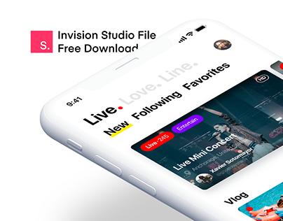 Live.Love.Line - Invision Studio File Free Download