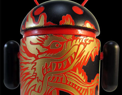 """Dragon Droid"" Custom Google Android Figure"