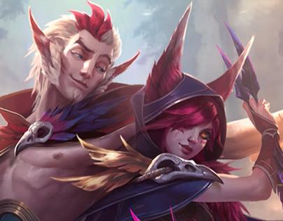 Rakan And Xayah Login Screen - League of Legends