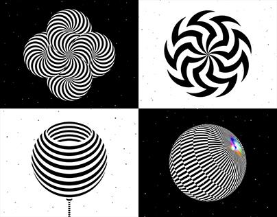 Op art symbols