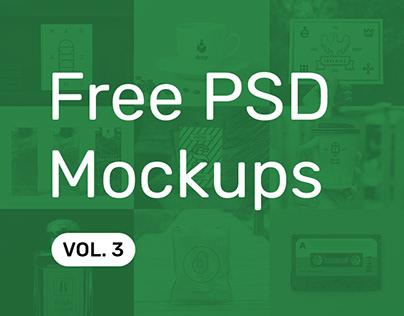 Free PSD Mockups vol. 3