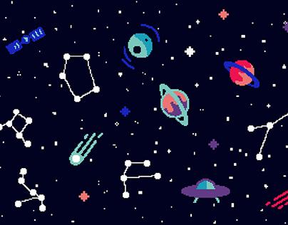 Space / hedgehog socks