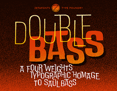 DoubleBass free font inspired by the art of Saul Bass