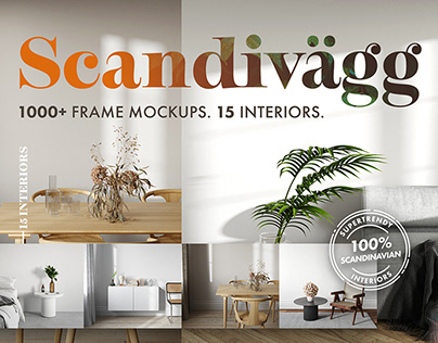 Scandivägg: 1000+ Frame Mockups