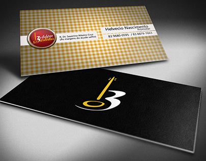 Business card to Botequim dos Artistas