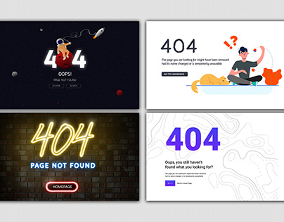 404 Error Concept for Landing Pages | 4x