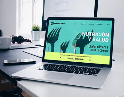 Diseño Web Nutrición Volny Studio