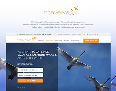 Luxury Travel Agent - Corporate Homepage