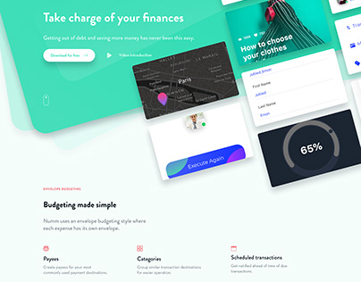 Finance App Landing Page Web Design