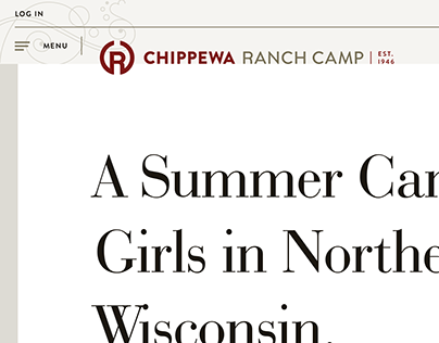 Chippewa Ranch Camp Website Redesign + New Logo