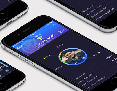 Fanta-calcio (Fantasy Football) for iOS | App concept