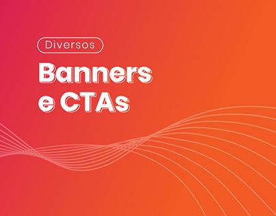 Banners e CTAs diversos