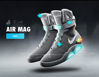 Nike Air Mag - Microsite & App Concept