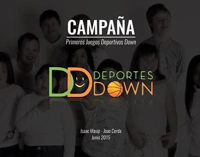 Campaña Primeros Juegos Deportivos Down
