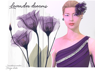 Evening dress inspired from lavender