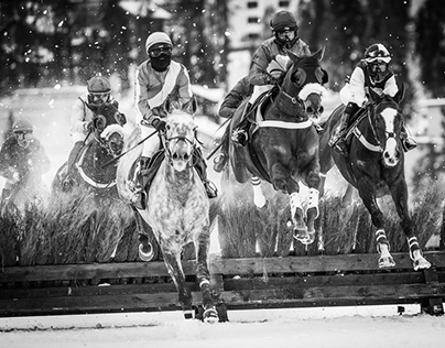 White Turf horse race