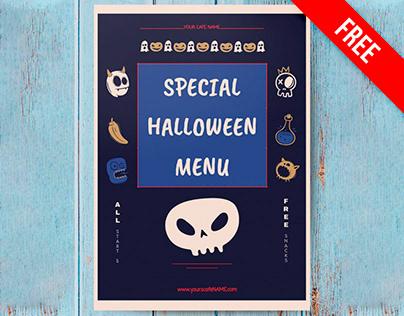 Special Halloween Menu - free Google Docs Template