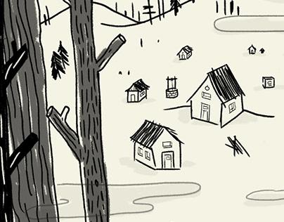 Microrrelatos   Short Story Illustration