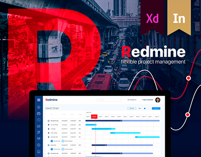 Redmine-project management. Redesign concept