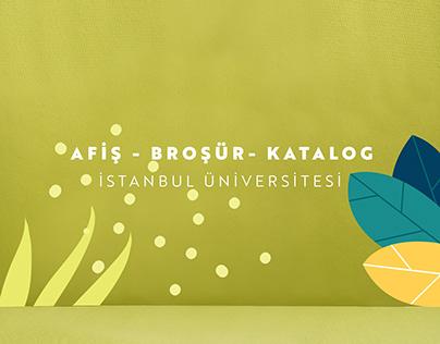 İstanbul Üniversitesi - Afiş, Broşür, Katalog
