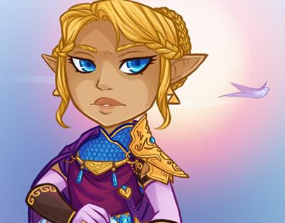 Princes Zelda Print