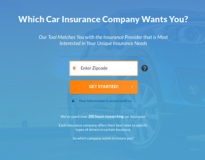 Car Insurance Calc - Mockup for ConsumersAdvocate.org