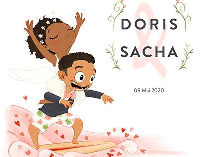 Faire-part Doris&Sacha