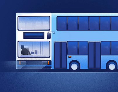 illustration project done for bus app