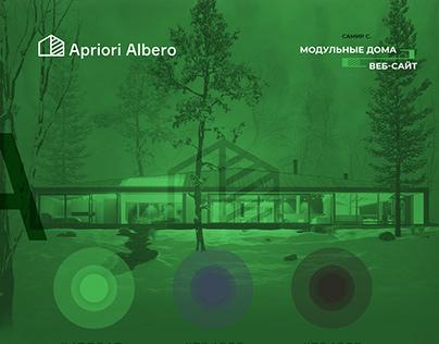 Ariori Albero modular homes. Webdesign.