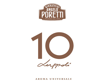 Poretti 10 Luppoli - Type design per il packaging (Car