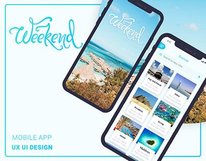 Weekend Booking Mobile App UI UX Design