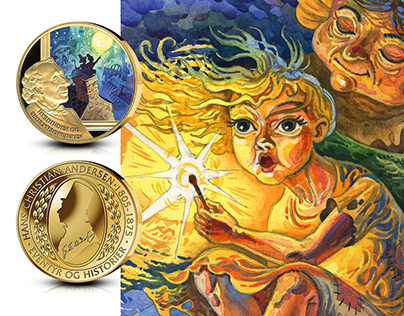 illustrations for medals series. Andersen Fairy Tales