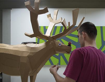 Cardboard Rudolf