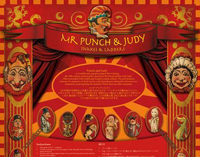 Mr Punch & Judy - Snake & Ladder game set