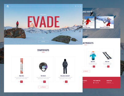Evade - Ecommerce Ski equipment