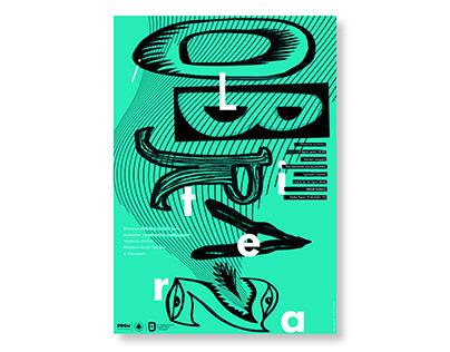 """Plakat promujący wystawę """"Obraz i litera"""""""