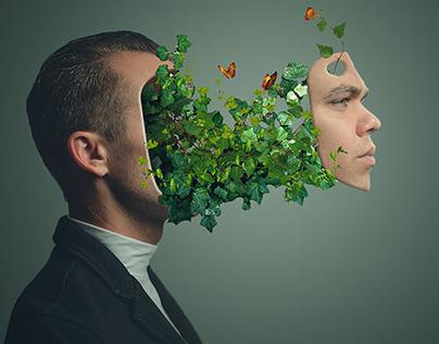 Plant Face Portrait Effect