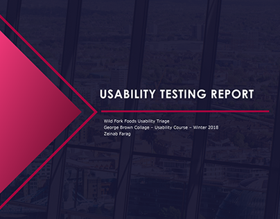 Wild Fork food Usability Testing Report
