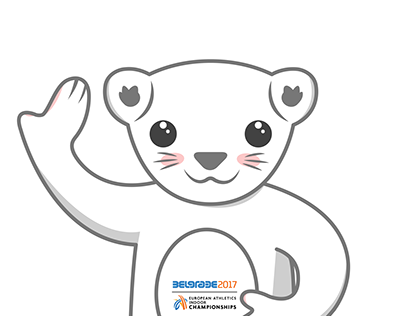 Mascot for European indoor athletic championship 2017