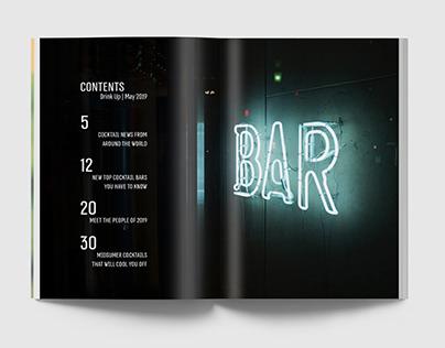 Drink Up, Magazine Layout