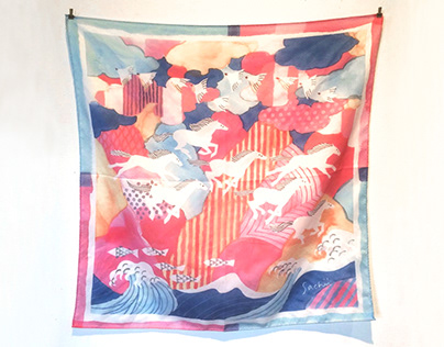 a scarf for exhibition