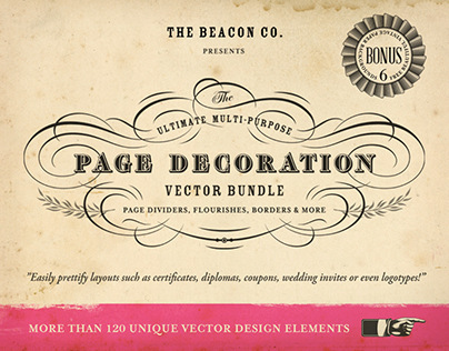 The Ultimate Page Decoration Vector Bundle