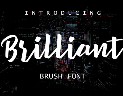 Free Brilliant Brush Font