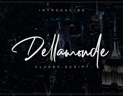Dellamonde free font