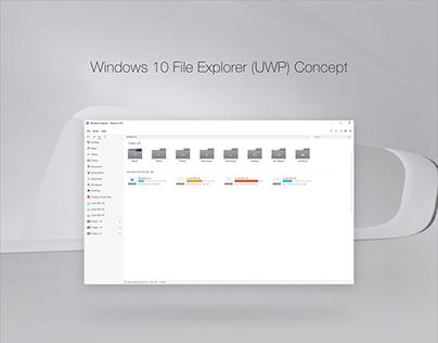 Windows 10 File Explorer (UWP) Concept (Light & Dark)