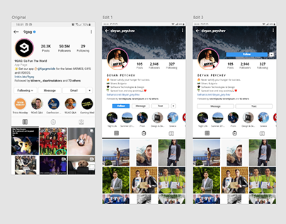 Instagram Profile Page Redesign | Profile Cover Image